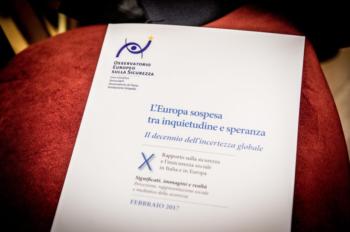 X Rapporto sulla sicurezza e insicurezza sociale: Europa sospesa tra inquietudine e speranza