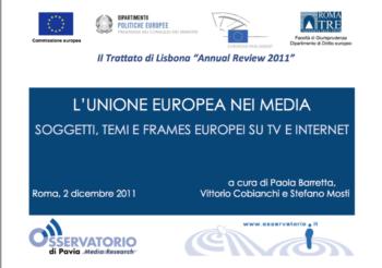 La comunicazione sull'Europa nei telegiornali italiani ed europei