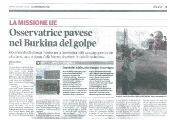 Osservatrice pavese nel Burkina del golpe